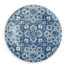 Atlantic Blue Collection 12 Piece Melamine Dinnerware Set by TarHong Commercial Ovens, Commercial Dishwasher, Dinner Plate Sets, Dinner Plates, Melamine Dinnerware Sets, Tableware, Vintage Textiles, Textile Patterns, Bloomsbury