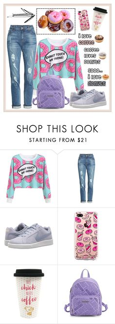"""""""Donut pls!"""" by krista-zou on Polyvore featuring WithChic, KUT from the Kloth, NIKE, The Casery, Rosanna and Love Moschino"""