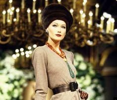 Carla Bruni Models For YSL, 1996