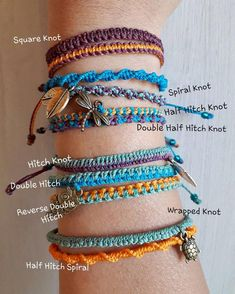 One colorful simple macrame bracelet, you choose among 9 different patterns and 70 colors, made to order in the style and colors you choose Bei einem farbenfrohen, einfachen Makramee-Armband ha Yarn Bracelets, Diy Bracelets Easy, Embroidery Bracelets, Summer Bracelets, Bracelet Crafts, Braided Bracelets, Gold Bracelets, Diamond Earrings, Colorful Bracelets