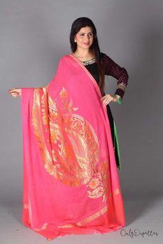 Real Zari Traditional Leaf Design Dupatta