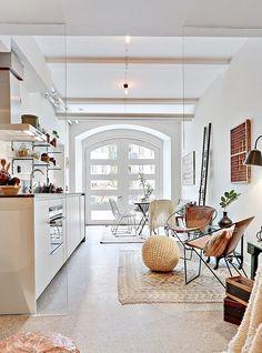 white kitchen and natural light