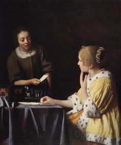 Mistress and Maid 1670 - Frick Collection  Johannes Vermeer