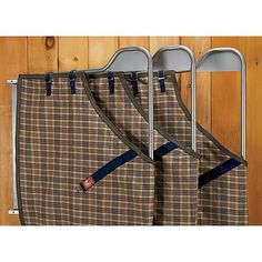 a-ha - this is what I was looking for - three bar swinging blanket rack. From doversaddlery.com