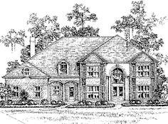 Eplans New American House Plan - Six Bedroom New American - 5654 Square Feet and 6 Bedrooms(s) from Eplans - House Plan Code HWEPL62424