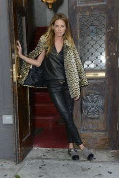 erin wasson #leopard #leather
