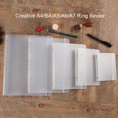 Criativo Anel Fichário B5/a567 Pp Planejador Caderno Capa PP Acessório Material Escolar Escritório Papelaria Transparente 6 Furos em Cadernos de Office & School Suprimentos no AliExpress.com | Alibaba Group