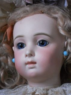 """~~~ Rare French Bisque Bebe """" Triste """" by Emily Jumeau / circa 1880 from whendreamscometrue on Ruby Lane"""