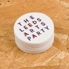 Stickers for http://www.leedsartsparty.org - 1000 paper stickers still only £60 on awesomemerch.com #stickers