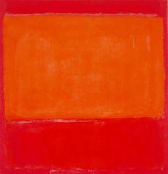 """Mark Rothko: """"Naranja sobre rojo""""."""