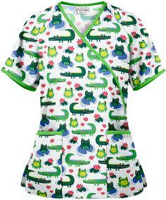 Print Scrub Tops and Print Scrub Jackets at Uniform Advantage Medical Scrubs, Veterinary Scrubs, Veterinary Medicine, Buy Scrubs, Scrub Jackets, Scrub Pants, White V Necks, Scrub Tops, Black Print