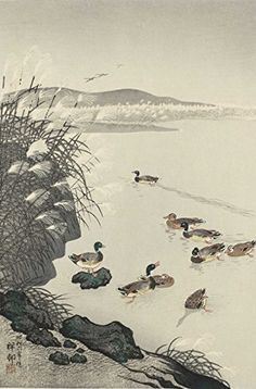 "Japanese Art Print ""Wild Ducks and Pampas"" by Ohara Koson. Shin Hanga and Art Reproductions http://www.amazon.com/dp/B016Z96PL2/ref=cm_sw_r_pi_dp_sMctwb1ECBHHE"