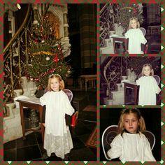 Mijn dochtertje Jane als kerstengel bij kindje wiegen in de Elandstraatkerk.
