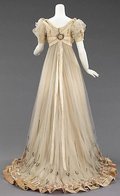 1908 Evening Gown by Paquin