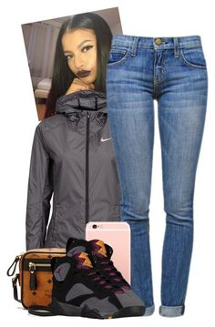 A fashion look from December 2015 featuring Current/Elliott jeans, NIKE and MCM shoulder bags. Browse and shop related looks. Swag Outfits, Dope Outfits, Winter Outfits, Casual Outfits, School Outfits, Fashion Killa, Look Fashion, Teen Fashion, Fashion Outfits