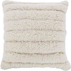 Cream Sheepskin Floor Cushion 75x75cm