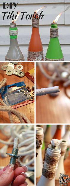 Echa un vistazo a la guía de aprendizaje: #DIY Antorcha Tiki #crafts #homedecor