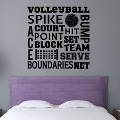 Enchantingly Elegant Volleyball Sports Wall Decal Size: