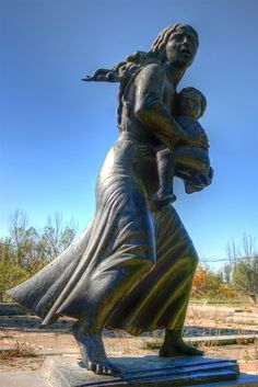 Mother Arising Out of The Ashes statue, near the Armenian Genocide Memorial. Armenia
