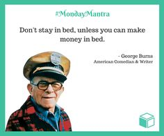 George Burns Fuuny Investment Quote, Wealth Quotes