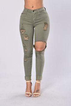Glistening Jeans - Olive | Fashion Nova