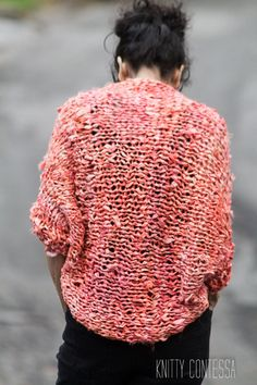 Chunky Knit Cocoon Sweater made with 100% Recylced Silk Saris $197 www.TheKnittyContessa.etsy.com