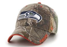 4106e819b NFL Seattle Seahawkss  47 Brand MVP Camo Realtree Frost Adjustable Hat Cap   47Brand