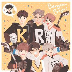 Fanart bts so cute Seokjin, Hoseok, Namjoon, Bts Chibi, K Pop, K Wallpaper, Kim Sang, Dibujos Cute, Sungjae