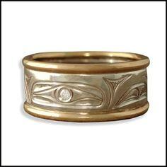 Hummingbird Ring, White Gold - GR1010