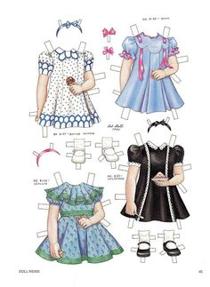 Louisa - Magazine Paper Dolls