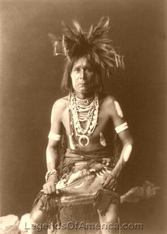 Hopi Snake priest, 1900