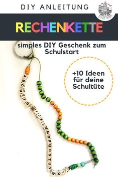 Was kommt in die Schultüte The rake chain and alphabet chain is a wonderful gift for first graders, Schultüte Diy, School Pack, Alphabet, Back To School Outfits, Holiday Break, Purses And Bags, Kindergarten, Thirty One, How To Memorize Things
