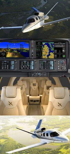 Vision Jet on Cirrus Aircraft Luxury Jets, Luxury Private Jets, Private Pilot, Private Plane, Jet Aviation, Personal Jet, Jet Privé, Kayak, Aircraft Design