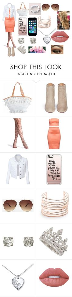 """""""outfit 4"""" by ally-cat-369 ❤ liked on Polyvore featuring Aquazzura, LE3NO, FingerPrint Jewellry, Casetify, Ashley Stewart, Alexis Bittar, Garrard and Lime Crime"""