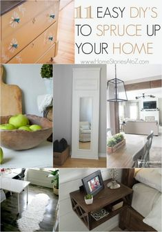 11 Easy DIY's to spruce up your home