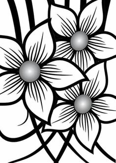 Black and White Color By Number Printable, Aquarius Art, Black And White Flowers, Heart Wallpaper, Black And White Illustration, Stencil Designs, Handmade Decorations, Beaded Flowers, Background Patterns