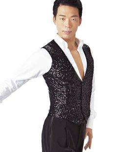 Taka Mens Sequin Dance Vest MV06 | Dancesport Fashion @ DanceShopper.com