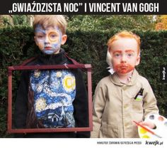 Funny pictures about Vincent Van Gogh And His Masterpiece Costume. Oh, and cool pics about Vincent Van Gogh And His Masterpiece Costume. Also, Vincent Van Gogh And His Masterpiece Costume photos. Halloween Costume Contest, Family Halloween Costumes, Halloween Kostüm, Vincent Van Gogh, Funny Images, Funny Pictures, Funny Pics, Funny Stuff, Illustrator