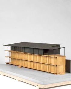 Herzog & de Meuron, Immeuble d& Hebelstrasse, Bâle Maquette Architecture, Architecture Design, Archi Design, 3d Modelle, Timber Structure, Arch Model, Amazing Buildings, Cladding, Scale Models