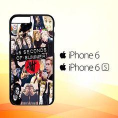 5 seconds of summer 5sos collage luke hemmings V1355 iPhone 6 6S Case