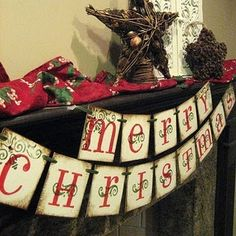Merry Christmas banner but make one for baby shower in shower colors!  Cute!