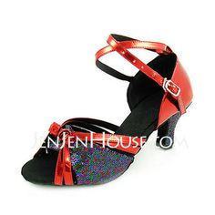 Dance Shoes - $28.99 - Women's Leatherette Sparkling Glitter Heels Sandals Latin With Ankle Strap Dance Shoes (053013526) http://jenjenhouse.com/Women-S-Leatherette-Sparkling-Glitter-Heels-Sandals-Latin-With-Ankle-Strap-Dance-Shoes-053013526-g13526