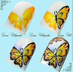 Trendy fails art paso a paso step by step Animal Nail Designs, Butterfly Nail Designs, Butterfly Nail Art, Nail Art Designs, Nail Art Techniques, Nails Only, Latest Nail Art, Nail Art Hacks, Fabulous Nails