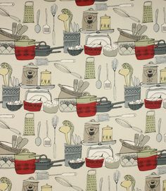 Unusual fabric depicting a world map made from 100 cotton this made from 100 cotton a great curtain and blind fabric ideal for a kitchen why not take advantage of our made to measure service and have gumiabroncs Image collections
