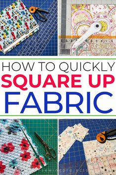 Quilt Tutorial: How to Quickly Square Up Fabric This isn't the easiest thing to learn when you first start quilting. Check out this quilt tutoria Quilting For Beginners, Quilting Tips, Quilting Tutorials, Quilting Projects, Sewing Tutorials, Sewing Patterns, Apron Patterns, Dress Patterns, Easy Sewing Projects