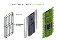Materiales: Muros Verdes / Descontaminantes, Acústicos y Térmicos,Muro Verde Extensivo