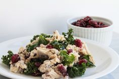 Wild rice with chicken, kale and goat cheese via Life With the Champions | A Wedding, Fitness, Food & Lifestyle Blog