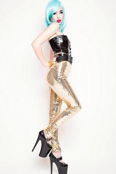 ADELE PSYCH 'Golden Girl' Glam Rock Heavy Metal High by AdelePsych, $180.00