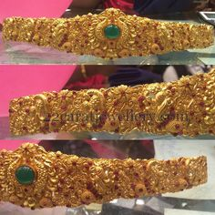 Jewellery Designs: Floral Peacock Vaddanam 150gms
