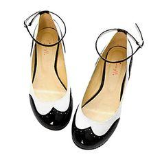 Faux Leather Women's Flat Heel Ballerina Flats – USD $ 14.99